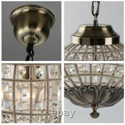 Retro Vintage Royal Empire Ball Style Big Led Crystal Modern Chandelier Lamp New