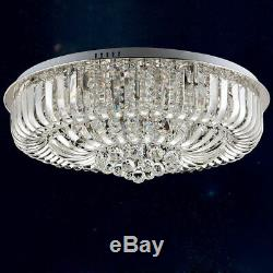Round Curved Crystal Flush Mount Ceiling Light Chandelier Pendant Lamps Fixtures
