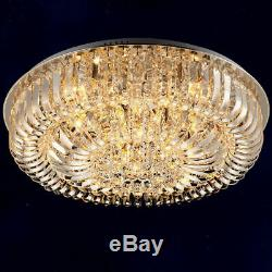 Round Curved Crystal Flushmount Ceiling Light Living Room Lighting Ceiling Lamp