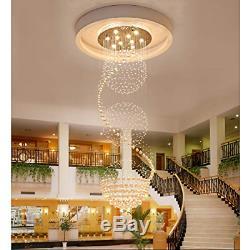 SEFINN FOUR 3 Ball Flush Mount Light LED Spiral Sphere Rain Drop Crystal Three