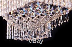 Saint Mossi Modern Crystal Raindrop Chandelier Lighting Flush Mount LED Ceili