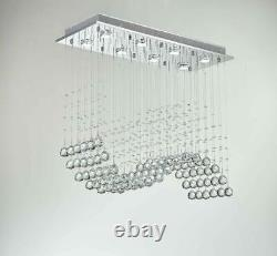 Saint Mossi Modern K9 Crystal Chandelier Lighting Flush Mount LED Ceiling Lig