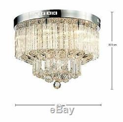 Saint Mossi Modern K9 Crystal Raindrop Chandelier Lighting Flush Mount LED