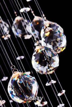 Saint Mossi Modern K9 Crystal Raindrop Chandelier Lighting Flush Mount LED Ce