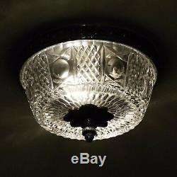 Salvaged Waldorf Petite Flush Mount Cast Crystal Fixture