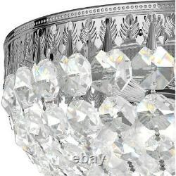 Schonbek 1560-40A Petit Crystal 4 Light 10 inch Silver Flush Mount Ceiling Light