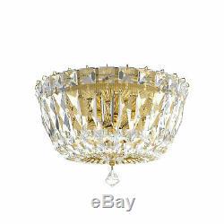 Schonbek Petit Crystal Deluxe Rich Auerelia Gold Gemcut Crystal Flush Mounts