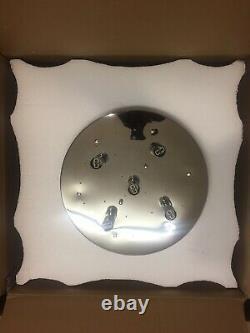 Schuller 507939 5-Light Flush Mount Crystal Ceiling Light Chrome Clear