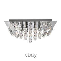 Searchlight 8 Light Chrome Crystal Balls Square Flush Ceiling Fitting Chandelier
