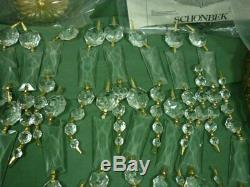 Shonbek Flush Mount Crystal Chandelier 6 Light 1514 NOS 19D075