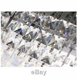 Siljoy 47 Flushmount Crystal Chandelier Raindrop Modern Light Fixture