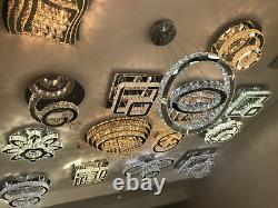 Spiral Bedroom Flush Mount Clear Crystal Lights Contemporary Chandelier