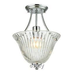 Springdale Lighting 1 Light Jill Semi Flush Mount, Polished Chrome SGH15108LED