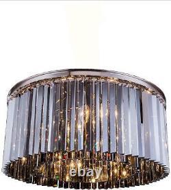 Sydney Flush Mount Light Ceiling Fixture 8-light Polished Nickel Clear C