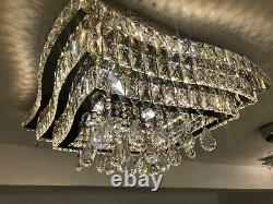 Tiered Crystal Balls Flush Mount Lighting Modern LED Stainless-Steel Ceiling