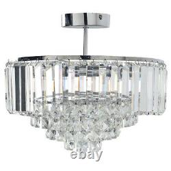VIENNA 3 Light Flush Polished Chrome Crystal BNIB RRP £200