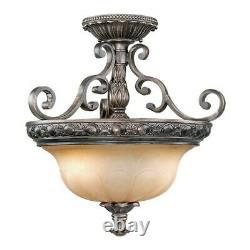 Vaxcel Bellagio Semi Flush (Duo-Mount Pendant) Parisian Bronze BG-CFU180PZ