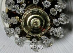 Vintage Crystal Mini Light Fixture By Luminaire
