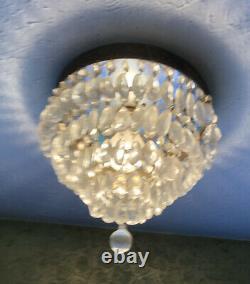 Vintage Wedding Cake Crystal Chandelier Flush Ceiling Light Crystal Import Co