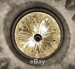 WATERFORD CRYSTAL 12 Beaumont Crystal Brass Flush Mount Ceiling Light Fixture