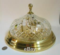 WATERFORD CRYSTAL 12 STRANGFORD Glass Brass Flush Mount Ceiling Light Fixture
