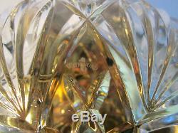 WATERFORD CRYSTAL Cut Glass KILKEA Brass 11 Flush Mount Ceiling Light Fixture