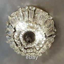 Waldorf Astoria Crystal Basket 10 in. Flush Mount Light