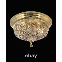 Waterford Crystal Beaumont Polished Brass 17in Ceiling Fixture