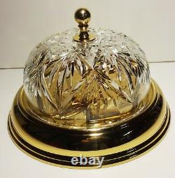 Waterford Crystal Kilkea Polished Brass Flush Mount Ceiling Light