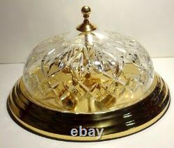 Waterford Crystal Strangford Polished Brass Flush Mount 17 Ceiling Light