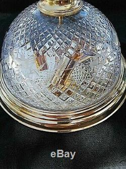 Waterford Cut Crystal Brass 12 Flush Mount Ceiling Light Fixtures