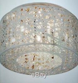 Wayfair ET2 E21300-10PC Inca Round Crystal Flush Mount Lighting 7 Light #L46