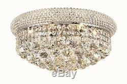 World Capital Bangle 16 Crystal Chandelier Flush Mount Ceiling Light Chrome