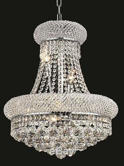 World Capital Bangle 16x20 8 Light Crystal Chandeliers Ceiling light Chrome