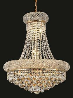 World Capital Bangle 20x2614 Light Dining Crystal Chandeliers light Gold