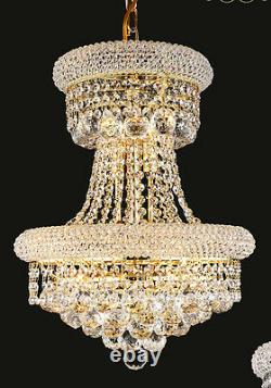 World Capital Limited Edition 9 Light Crystal Chandeliers Ceiling light Gold