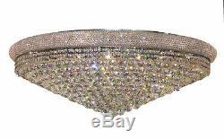 World Crystal Bangle 42 30L Crystal Chandelier Flush Mount Ceiling Light Chrome