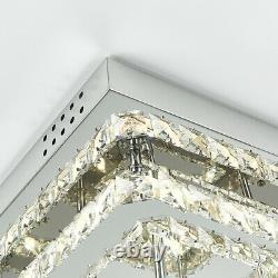 XXL LED Ceiling Light Crystal Chandelier Lamp 40-70cm Flush Mount Living Room