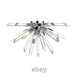 Z-Lite 4 Light Burst 24 Flush Mount, Chrome 4003-F-CH