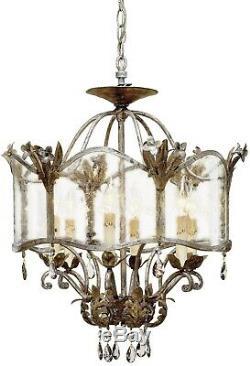 Zara Flush Mount Light Ceiling Fixture Currey & Company Traditional